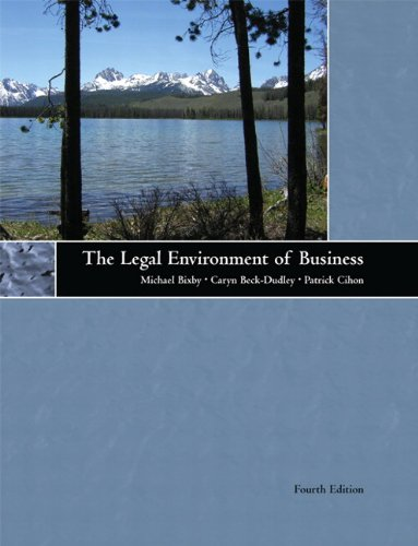 9780536544988: The Legal Environment of Business (4th Edition)