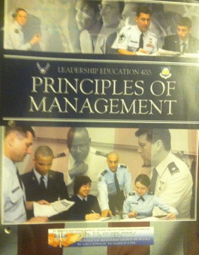 Leadership Education 400 Principles of Management Air Force J.R.O.T.C. V-7401T: Robbins, Stephen P....