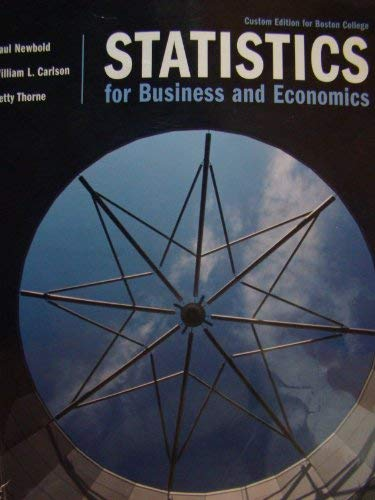 Statistics for Business and Economics (with CD: Newbold, Paul; Carlson,