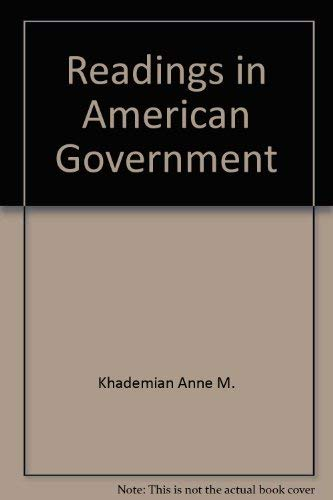 Readings in American government: Anne M. Khademian, David Canon