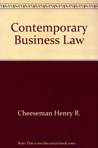 9780536586650: Contemporary business law