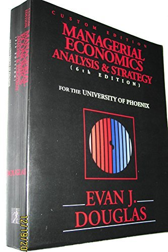 9780536590954: Managerial Economics: Analysis & Strategy