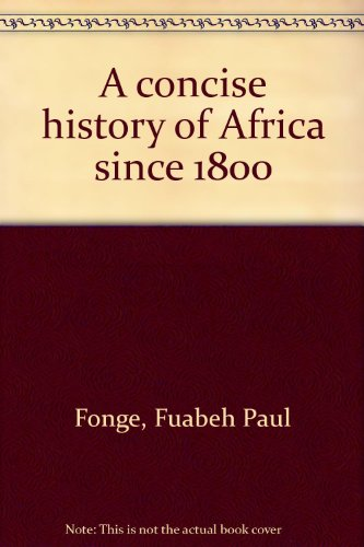 9780536598622: A concise history of Africa since 1800