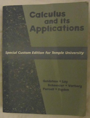 9780536615770: Calculus and Its Applications (Special Custom Edition for Temple University)