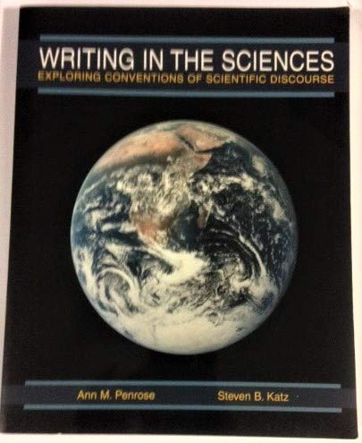 9780536630162: Writing in the sciences: Exploring conventions of scientific discourse