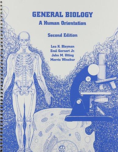 9780536633620: General Biology a Human Orientation