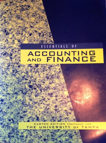 Essentials fo Accounting and Finance, The University: Douglas R Emery,