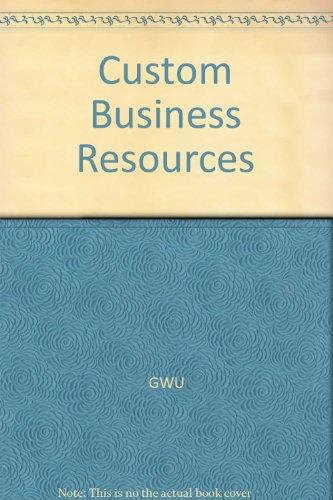Custom Business Resources: GWU