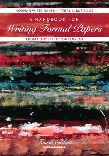 9780536647429: A Handbook for Writing Formal Papers From Concept to Conclusion (4th Edition)