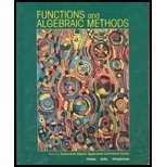 9780536665973: Functions and Algebraic Methods