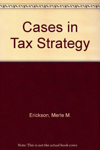 9780536667434: Cases in Tax Strategy