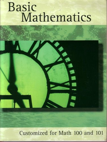 9780536668899: Basic Math: Math Customized for Math 100 - 101:comes with Math Max Multimedia Cd-rom