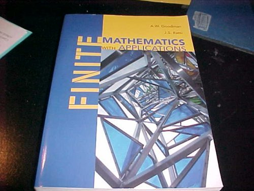 9780536672520: Finite Mathematics with Applications (Reprint of 1971 edition)