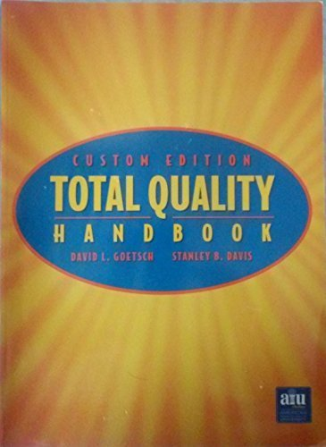 Custom Edition Total Quality Handbook (Custom Edition): David L. Goetsch,