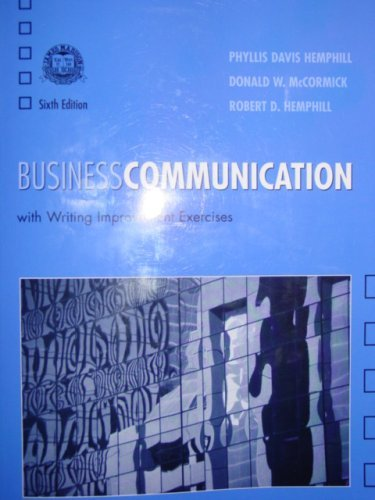 9780536678973: Business Communication (With Writing Improvements Exercises, James Madison High School)