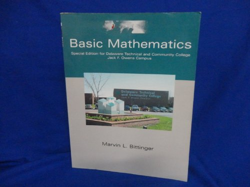 9780536689689: Basic Mathematics Special Edition for Delaware Technical and Community College