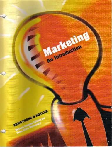 9780536697769: Marketing An Introduction Second Custom Edition for Penn State University