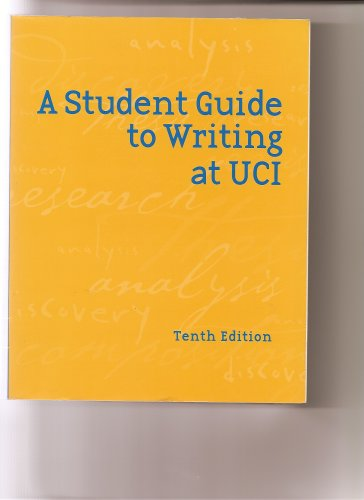 9780536704986: A Student Guide to Writing At UCI