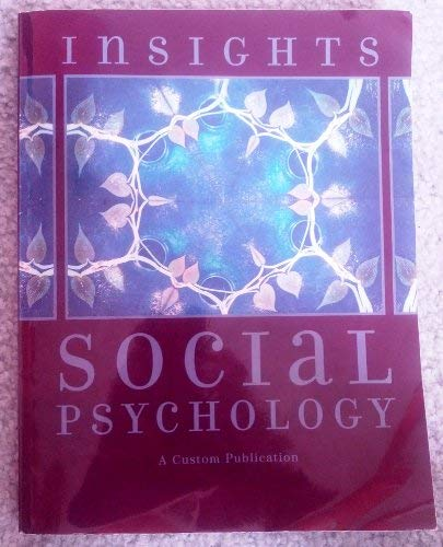 9780536711588: Insights: Readings in Social Psychology