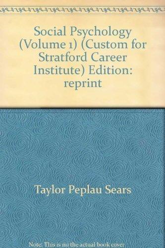 9780536729774: Social Psychology Volume 1