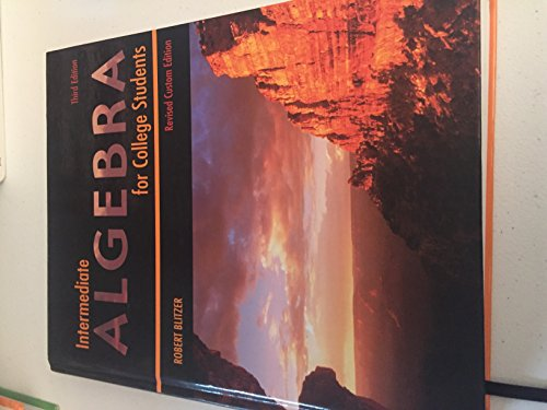 9780536733092: Intermediate Algebra for College Students (Revised Custom Edition)