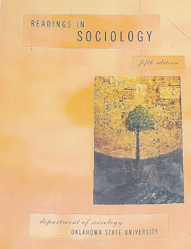 Readings in Sociology: Oklahoma State University
