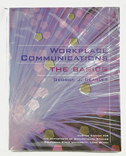 9780536734396: Workplace Communications the Basics [Paperback] by Searles, George J.