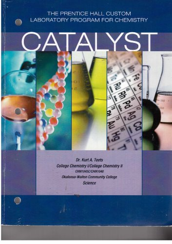 9780536791160: Catalyst the prentice hall custom laboratory program for chemistry