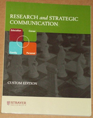 Research and Strategic Communication (Custom edition for: Jeanne Ellis Ormrod