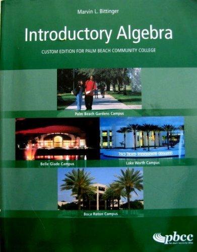 9780536819734: Introductory Algebra (Custom Edition for Palm Beach Community College)