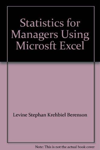 Statistics for Managers Using Microsft Excel: Levine Stephan Krehbiel
