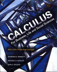 9780536827081: Calculus for business, Life and Social Sciences FSU MAC 2233