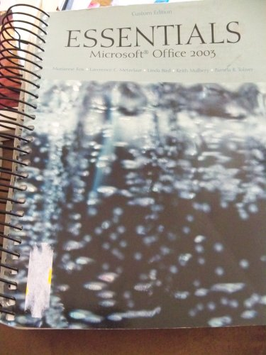 9780536836953: Essentials Microsoft Office 2003