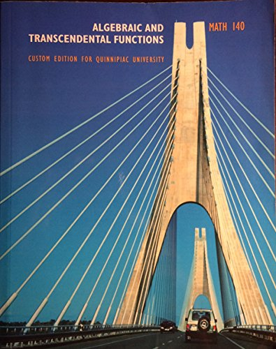 9780536838803: Algebraic and Transcendental Functions - Custom - Math 140