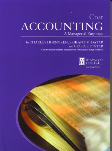 9780536847867: Cost Accounting a Managerial Emphasis