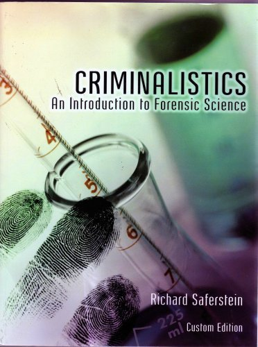 9780536851215: Criminalistics An Introduction to Forensic Science Custom Edition