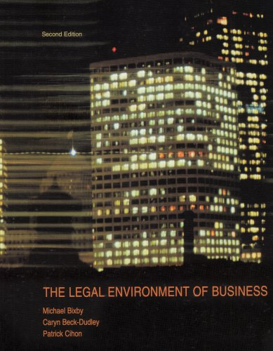 9780536859822: The Legal Environment of Business