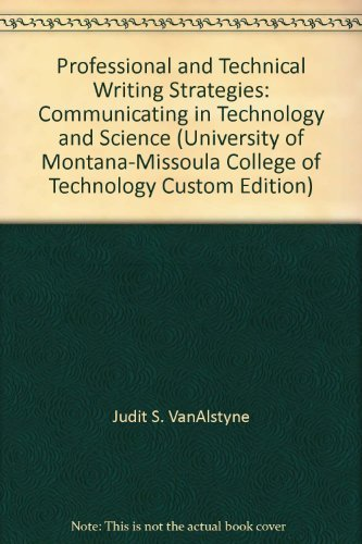 9780536861887: Professional and Technical Writing Strategies: Communicating in Technology and Science (University of Montana-Missoula College of Technology Custom Edition)