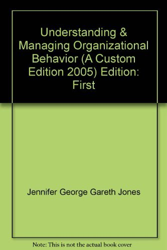9780536862617: Understanding and Managing Organizational Behavior