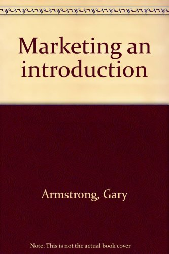 9780536866967: Marketing an introduction