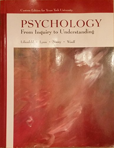 9780536880727: Psychology: From Inquiry to Understanding (Custom Edition for Texas Tech University)