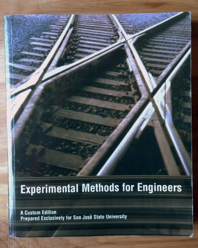9780536900180: Experimental Methods for Engineering Custom Edition for San Jose State Univercity