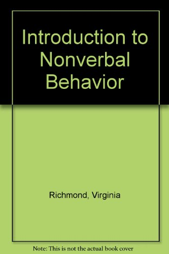 9780536901248: Introduction to Nonverbal Behavior