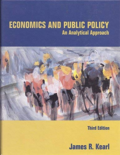 9780536906649: Economics and Public Policy: An Analytical Approach