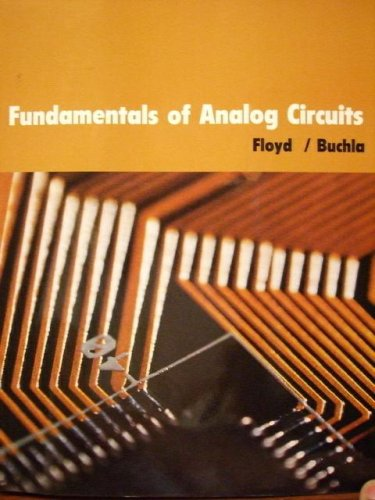 9780536912619: Fundamentals of Analog Circuits Edition: Reprint