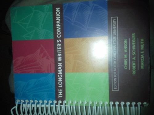 The Longman Writer's Companion (Edition For North: Chris M.Anson, Robert
