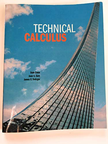 9780536916105: Technical Calculus