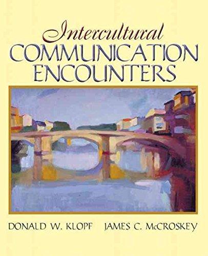 9780536916440: Intercultural Communication Encounters