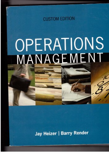 9780536916754: Operations Management: Custom Edition