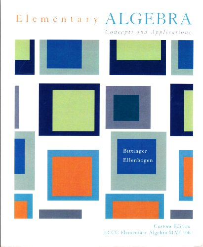 9780536934406: Elementary Algebra Concepts and Applications